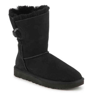 UGG NASH BUCKLE SUEDE SHEARLING BOOTS NEW! BLACK